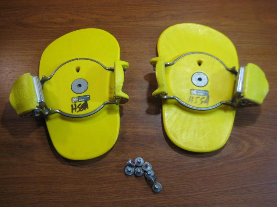 Switch Quick - N Step in Snowboard Boot Bindings With Hardware Yellow