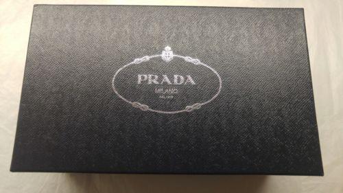 PRADA EMPTY SHOE BOX AND TISSUE PAPER 13.5