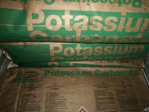 Potassium Carbonate (K2CO3), Food Grade, 99.5% purity! 10.0 LB bag in Box.