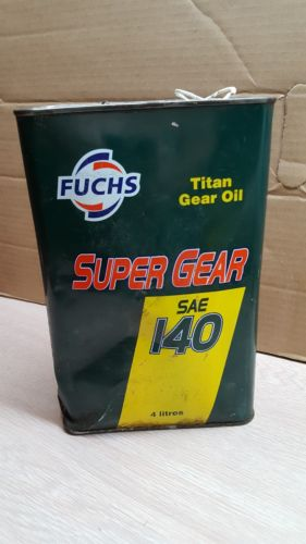 VINTAGE ADVERTISING FUCHS MOTOR OIL CAN GAS PUMP SIGN