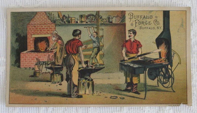 Victorian Trade Card,  Buffalo Forge Co. , Buffalo NY, Blacksmith
