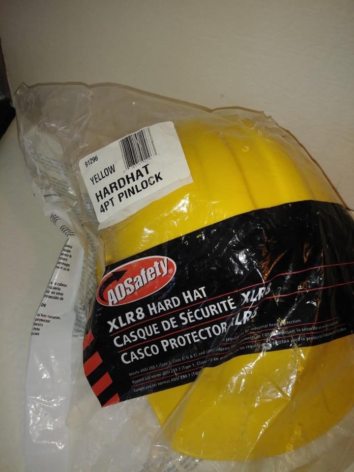 AO SAFETY HARD HAT HEAD PROTECTION XLR8 YELLOW - Brand New