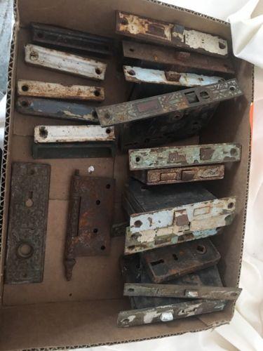 LOT OF 12 Vintage ANTIQUE DOOR LOCKS LATCH HARDWARE  Different Brands Look
