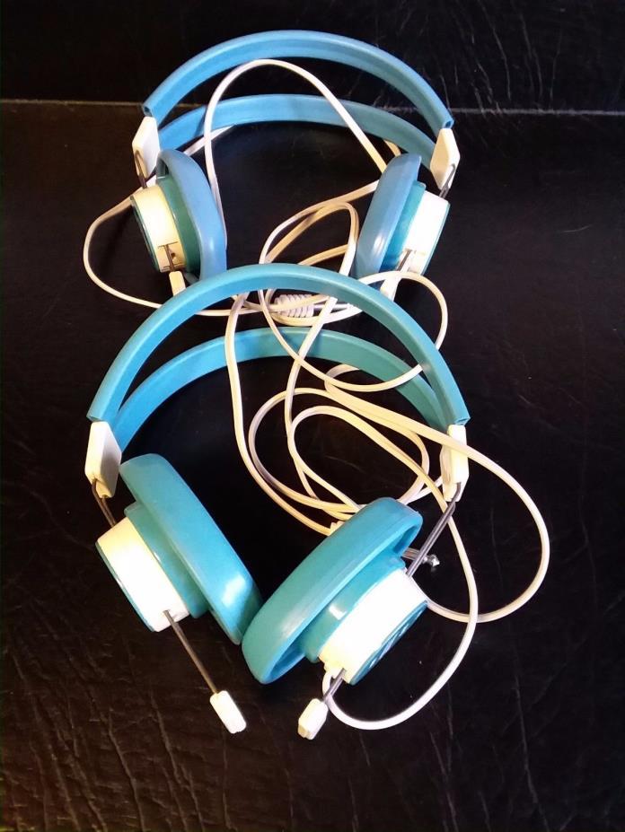 two telex model 610-1 600 ohm retro 1970s headphones