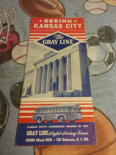 April 1947 Seeing Kansas City The Gray Line Sight-Seeing Tours Vintage Brochure