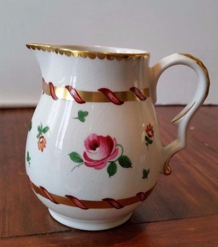 Vintage Creamer Pitcher Bristol Pountney Roses Gold England