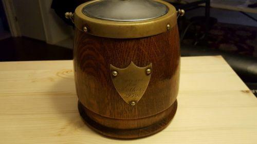 antique 1936 oak ice chest