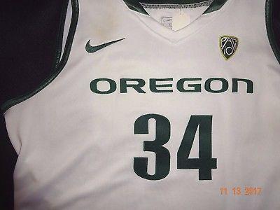 Nike Team Issued OREGON DUCKS BASKETBALL JERSEY #34  Size 46 Lx2 women's