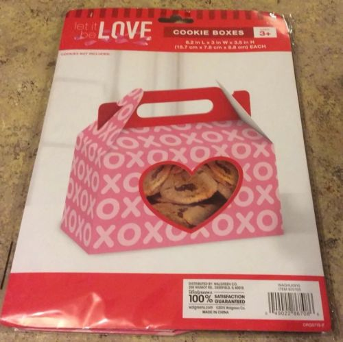 XOXO Cookie Boxes, Let  It Be Love, Valentines Day