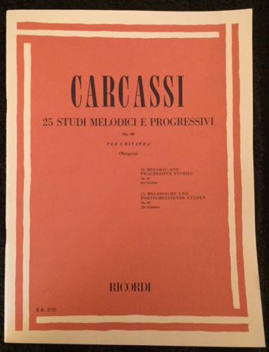 25 STUDI MELODICI E PROGRESSIVI, OP. 60 ~ MATTEO CARCASSI ER2735~CHITARRA GUITAR