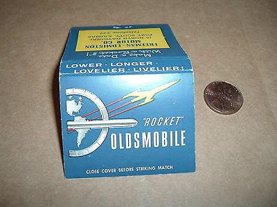 Oldsmobile Rocket Freeman Edmiston Motor Co Fort Scott Kansas Matchcover