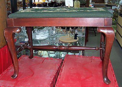 Needlepoint Upholstered Bench