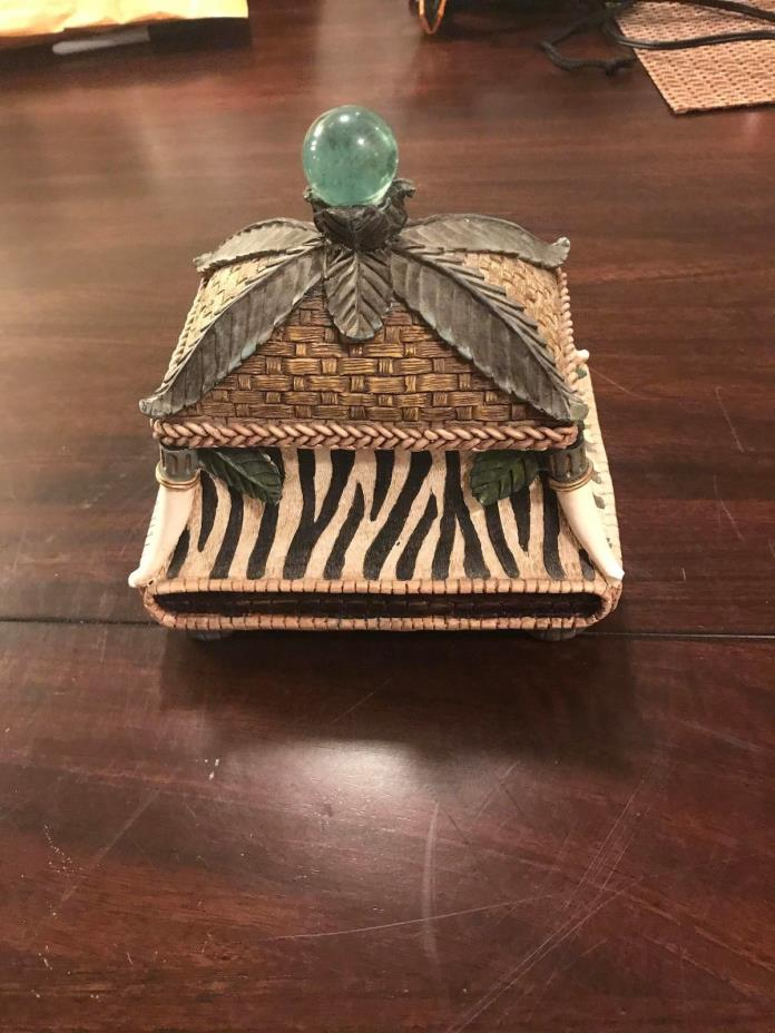 Decorative African Safari Themed Small Bin