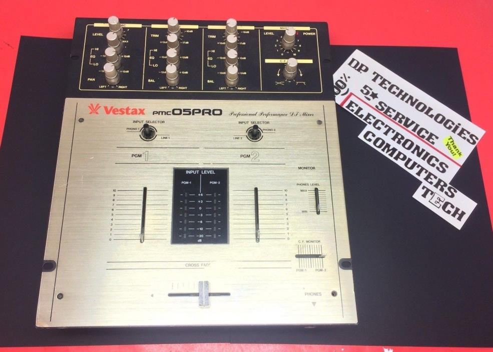 WoW! LQQK - Vestax pmc05PRO - PMC 05 PRO Professional 2 Channel DJ Scratch Mixer