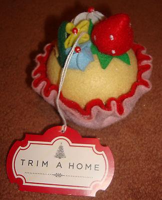 Trim a Home Cake Cupcakes Christmas Ornament Food Decorative Soft Felt Fabric