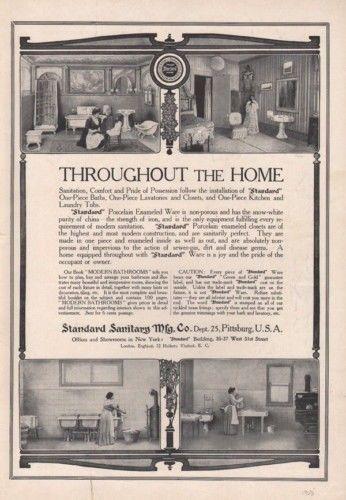 1908 STANDARD PLUMBING HOME DECOR BATHROOM PORCELAIN AD8143