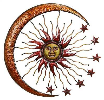Metal Sun Moon Wall Decor [ID 3138441]