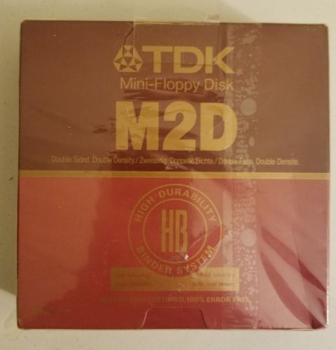 Vintage TDK Mini- Floppy Disks M2HD 5 1/4