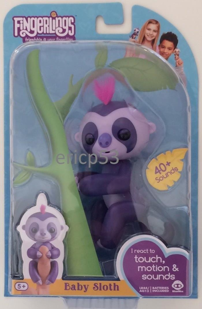 Authentic Marge Purple Sloth Fingerlings WowWee Fingerling US Seller Fast Ship
