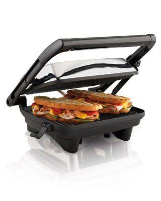 Hamilton Beach 25460A Panini Press Gourmet Sandwich Maker Grills Griddles Small