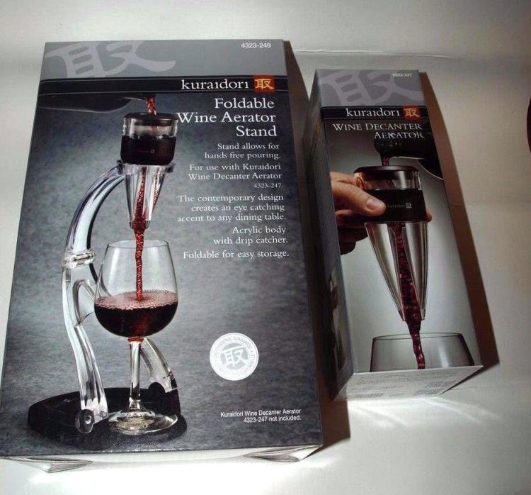 Kuraidori  Wine Decanter Aerator Stand  & Wine Decanter Aerator  NEW