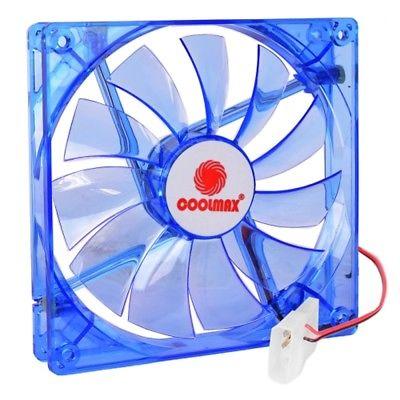 5.5 x 5.5 (140mm) Coolmax CMF-1425-BL UV Reactive 4-Blue LED Case Fan w/4-Pin Co