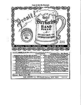 Ascher's Bier Garten German Oktoberfest Band Sheet Music
