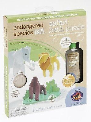 ENDANGERED SPECIES BY SUD SMART+SAFARI BATH PUZZLE+BUBBLE BATH_ECO-FRIENDLY