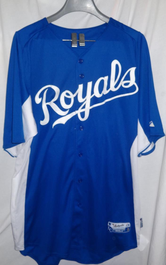 Kansas City Royals JEREMY JEFFRESS Game Used Worn Baseball Jersey KC
