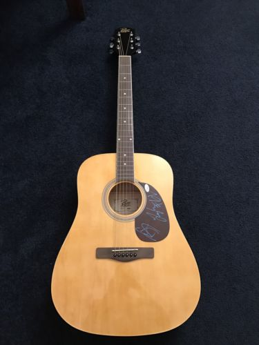 Florida Georgia Line Signed Acoustic Guitar Jsa Brian Kelley Tyler Hubbard