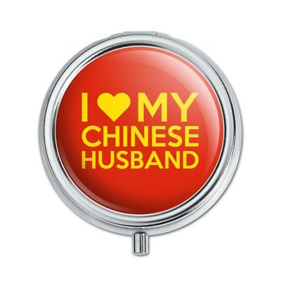 I Love My Chinese Husband Pill Case Trinket Gift Box