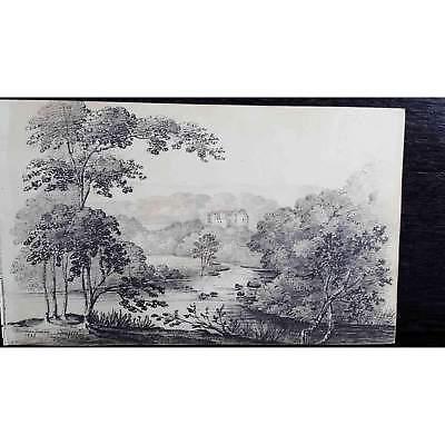 Antique Original British Pencil Drawing, circa 1823, #5 of 8 -
