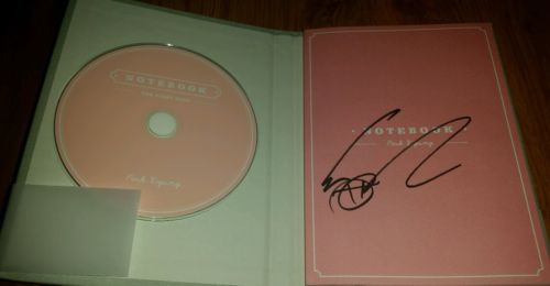 Block B Park Kyung 1st mini album Notebook (the first page ) autographed album