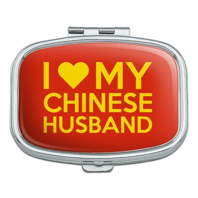 I Love My Chinese Husband Rectangle Pill Case Trinket Gift Box