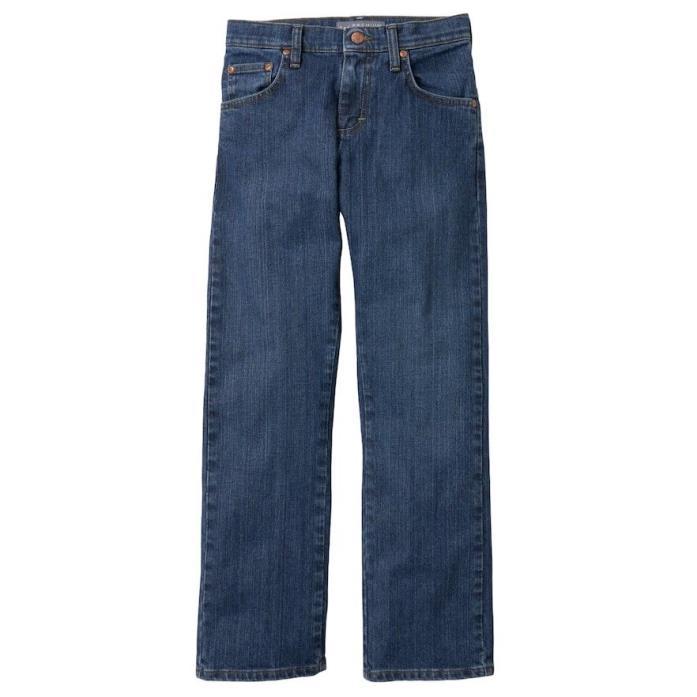 LEE PREMIUM Boys Medium Wash Slim-Fit Straight-Leg Jeans Size 12