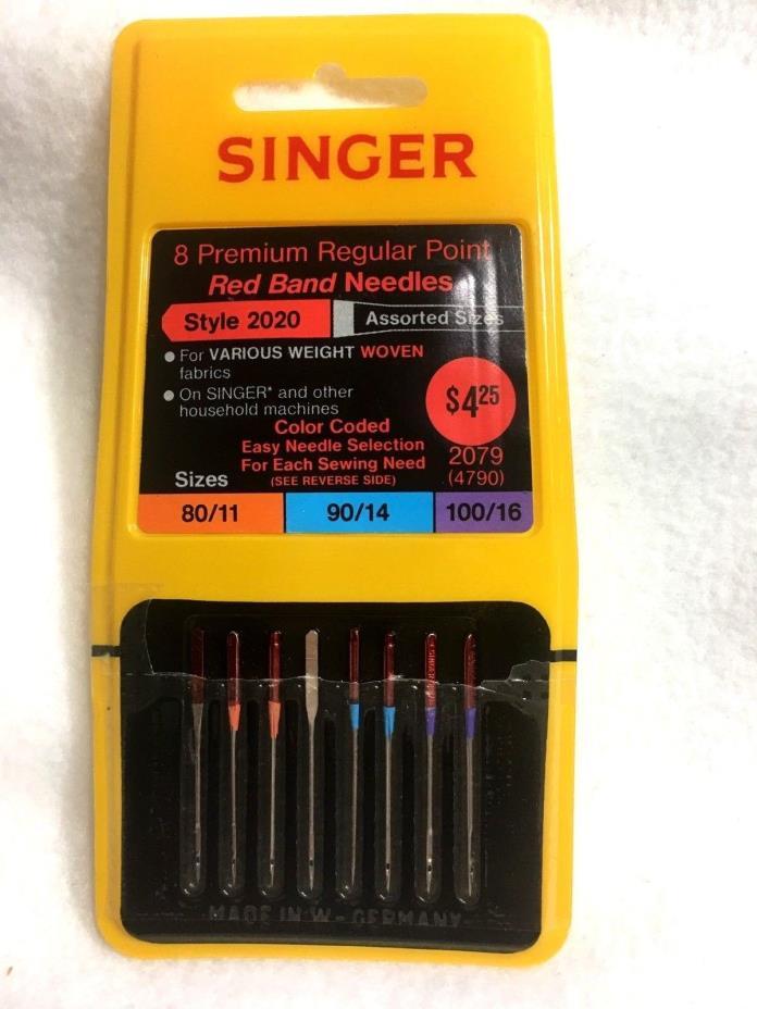 Singer Machine Needles 8 Premium Regular Point Red Band Style 2020 Assorted 2079