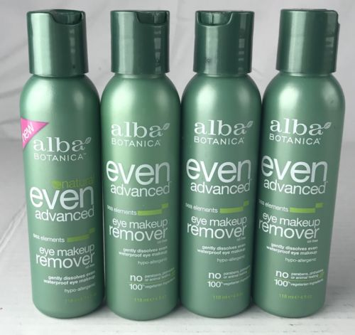 Lot of 4 Alba Botanica Even Advanced Sea Elements Eye Make-up Remover Oil Free