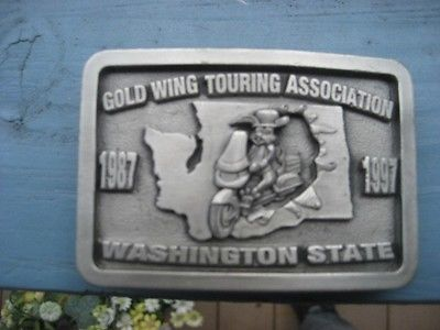 Honda Gold Wing Touring Association collector belt buckle 10th year  7- 3-1997