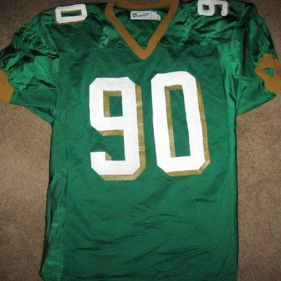 BAYLOR BEARS GAME USED GREEN PRACTICE FOOTBALL JERSEY-#90