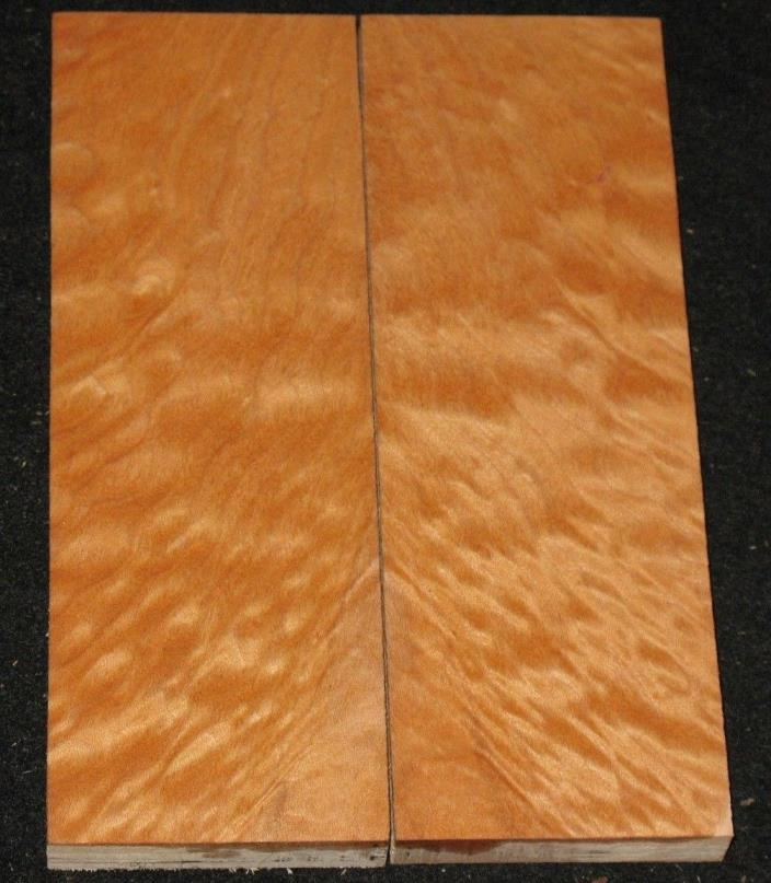 AAAA Quilted Maple Knife Scale Grips Handles Book Matched Set