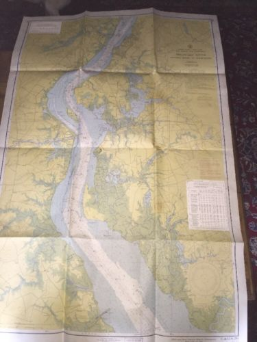 NOAA Chart Delaware River Smyrna River to Wilmington 11th Edition 1956 C&GS 294