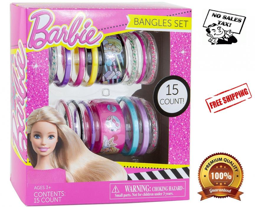 Bangles Bracelets Set 15 Count Barbie Gift Set for Girls New