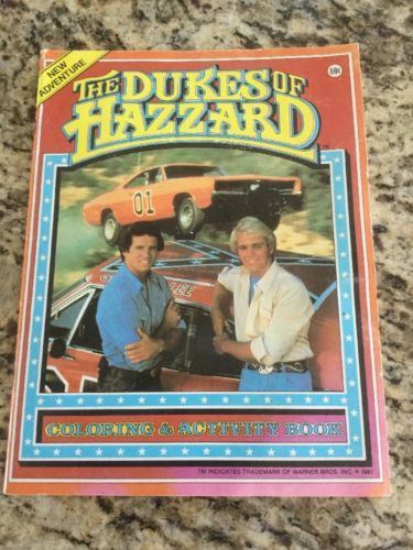 Vintage 1981 Dukes Of Hazzard Coloring Book