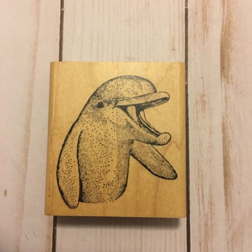 Happy, Smiling Dolphin Rubber Stamp from Rubber Stamps of America
