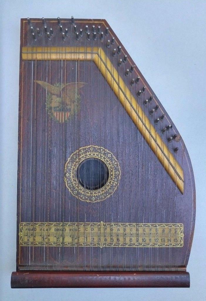 ANTIQUE MARX PIANOPHONE Auto Harp Marxophone Zither Harp Chord Autoharp