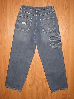 NICE BOY'S LEE CARPENTER UTILITY DENIM JEANS  ADJUST WAIST  SZ 16R  ~EUC~