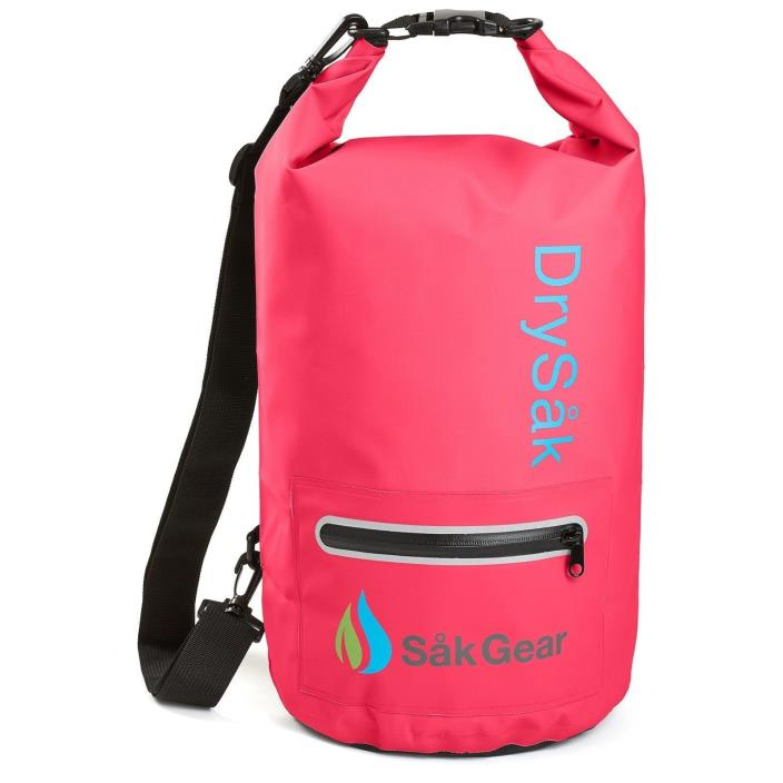DrySak Premium Waterproof with Exterior Zip Pocket , Keeps Gear Safe Dry