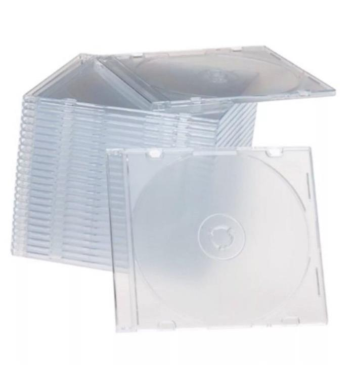 50 New Single CD Jewel Case Slim 5.2 mm Frosted Clear Blank Replacement Cover