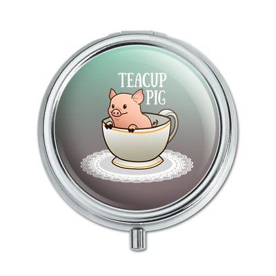 Teacup Pig Pill Case Trinket Gift Box