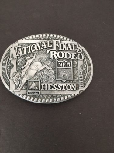 National Finals Rodeo Hesston 1998 NFR Adult Cowboy Buckle PRCA